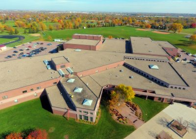 Roofing on Roosevelt High School, Sioux Falls, SD